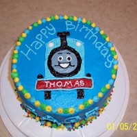 Thomas The Train Cake  First and only character cake I've ever done. Not too pleased with it, rather sloppy because the buttercream was way too soft. This is...