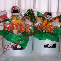 Hospital Xmas Baskets I made these for the doctors and nurses that have been taking care of my Dad this last month in the hospital. They were very much...