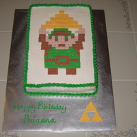 Legend Of Zelda My daughter wanted an old school style Legend of Zelda cake for her 14th birthday. She saw the mosaic cupcake design on this site and loved...