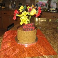 Leopard Birthday  This cake was arapped in chocolate transfer sheet, I temepered chocolate, spread on the leopard sheet, wrapped the cake and let it set in...