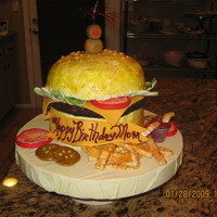 Cheeseburger Cake   All Edible