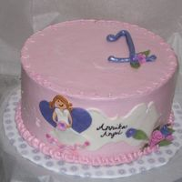 Annika Angel I made this for my friend's daughter's first birthday with a coordinating smash cake. It's a vanilla yogurt sponge cake with...