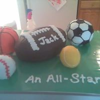 Sports Baby Shower All buttercream.