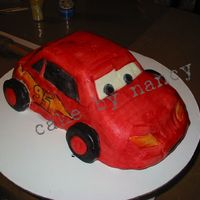 Disney Cars  hello this was sooooooo as last minute cake and im not very happy but here my cars from cars his name is lightening mcqueen.........Its for...