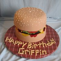 Burger & Fries My version of the hamburger cakes I've seen from here at CC. All fondant! I think my bun turned out a bit big and my burger too small...
