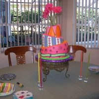 Topsy-Turvy Birthday! What a hoot! This was my first attempt at one of these!! I learned a few lessons on this one!