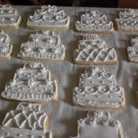 Wedding Cake Cookie Favors royal icing.