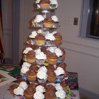 50Th Birthday Cupcake Tower cupcake tree for 50th birthday party. casino theme.