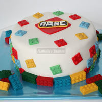 Lego For My Nephew   fondant with candymelt blocks