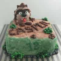 Taz For Casper!   Fruitcake covered with marzipan and fondant. Taz is all fondant with tylose