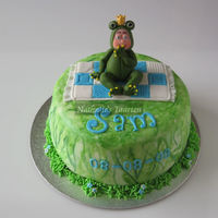 A Little Frog For A Little Boy   All fondant used for this cake.Thanks for watching!