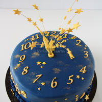 The Last One For 2009   A friend asked me to make my clock cake again. This time I made him with blue fondant.