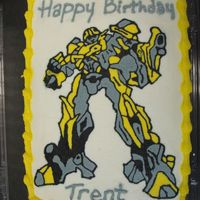 Bumblebee Transformers Cake This cake was a FBCT...tons of detail. Turned out okay...I see parts that are messed up but, it looks nice anyways.