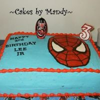 My Son's Spiderman Cake This cake was for my little boys 3rd birthday. I did not go all out with this cake like I did with his Blues Clues cake last year but he...