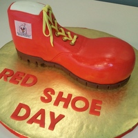 Ronald Mcdonald Red Shoe Cake Cake made for Red Shoe Day (September 28, 2011) - I raffled this off at work and made $125 for Ronald McDonald House Charities in San Diego...