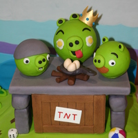 Angry Birds Cake - Poached Eggs