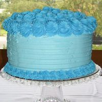 Labor Day Cake I made this for the family for labor day. Its from the Wilton book on basic decorating.