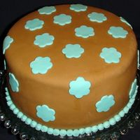 First Try At Mmf This was my first try at MMF. Its ok I guess. I wanted darker brown, with teal. The cake is just for practice.