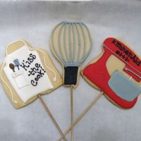 "Kiss The Cook! NFSC and Antonia's RI. Part of a larger cookie bouquet of ""favorite things."" Inspired by many!"