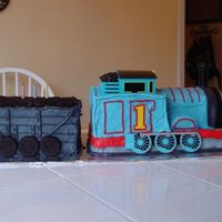 Thomas The Train Birthday Cake Side view of the cake I did for my son's 3rd birthday. Front view listed separately.
