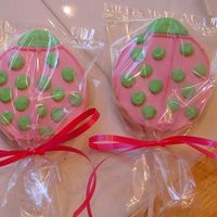 Lady Bug Lady bug cookies I did as part of a bouquet for a coworker's 50th birthday
