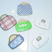 Handbags   I did these cookies for a friend who has a serious addiction to handbags. Used NFSC with RI
