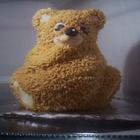 Teddy Bear   This was my first attempt at a 3D cake. It's a mini though, so less time consuming and more forgiving.