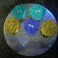 Creature_Cupcakes_December_14_.jpg These are Monster Cupcakes which I re-named creature cupcakes. They were for my DH's Birthday. I have nicked named him Creature, so...