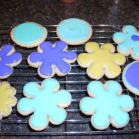 My 1St Decorated Cookies These are the Penny's Cookies Recipe decorated with Toba's Glaze. My very first time attempting cookies. I had lot's of fun...