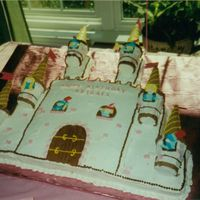 Castle Cake This was my first attempt at cake decorating. It was copied from 1989 Wilton book. All BC except for the knights and ladies profiles done...