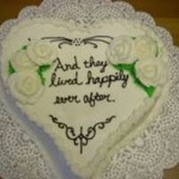 Happily Ever After Heart Shaped w/ bc icing