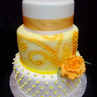 Orange & Yellow Birthday Celebration Cake