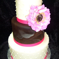 Pink And Brown W/jumbo Gumpaste Flowers
