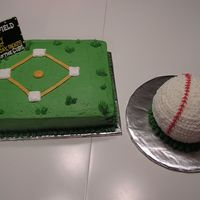 Wrigley Field This was a cake I did for the first birthday of a son of a cub's fan...the baseball was his smash cake.