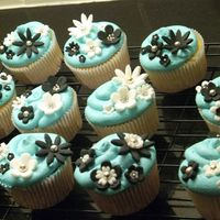 Cupcakes I made these for a friend of mine's birthday dinner. She is a classy, modern girly girl so I wanted them to be tiffany blue with...