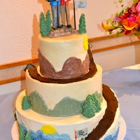 Hiking Bride And Groom This cake was so much fun to make. The bride and groom enjoy doing everything in the backcountry together. This suited them perfectly and...