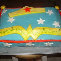 Wonder Woman Pillow Cake I was more of a consultant on this cake than anything. It was a joint effort with my sister with her imagination. For her daughter's...