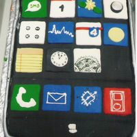 Iphone Cake This was made for my manager's birthday. He just bought an iphone which is his new toy and thought he would get a kick out of this...