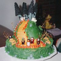 Halloween Cake This was done for my sister's job and came out of the wilton yearbook. Not sure with year.