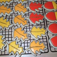 Fall Cookies   My first attempt at the NFSC recipe with Antonia's icing. These took me forever, I don't think I'll be doing them again.