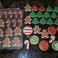 Holiday Cookies   Made with Shebaben's sugar cookie recipe and Antonia's icing.