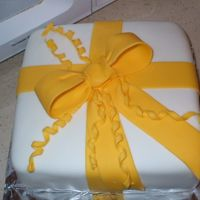 Another Bow Cake View Once again, MMF for the cake covering and wilton fondant for the bow