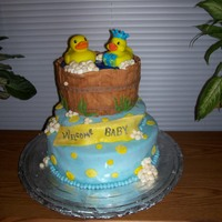 Ducky Bath   Baby shower cake made for a friend of mine...