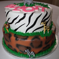 Zebra And Leopard Party for a little girl who was having a animal themed party. Airtbrushed the leopard and painted the zebra.