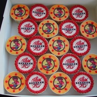Bakugan Edible images on buttercream.