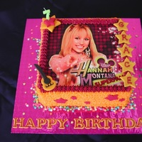 Hannah Montana All buttercream, Edible Image and fondat accents.