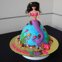 Mermaid All buttercream and fondant accents.