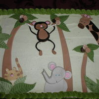 Jungle Animals This cake was for a baby shower. The mother love the caracteres so much she kept them for her oldest daughter.