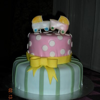 Twins This mother had twins- a boy and a girl. So I did a cake that was more for a little boy another that was for the girl. The cake was...