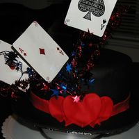 Magic Hat Cake Oval cake made to look like a magician's hat